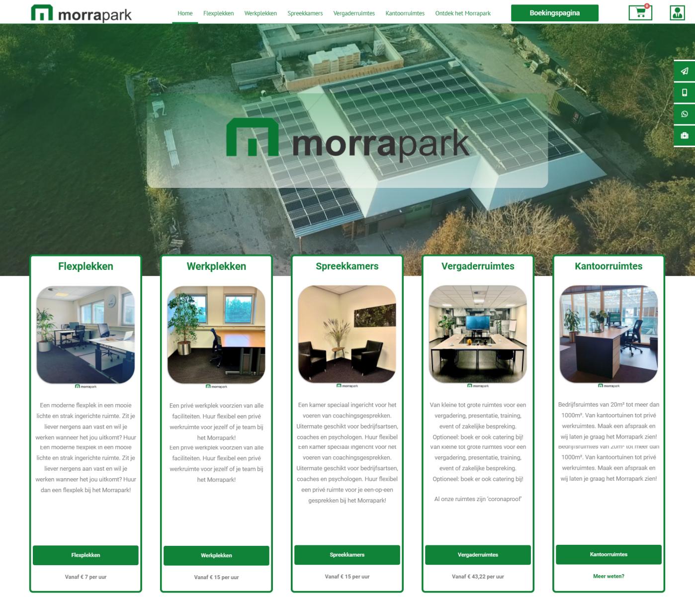 Morrapark website door Doeltreffend Online